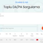 Ücretsiz ve Hızlı DA / PA Sorgulama Sitesi